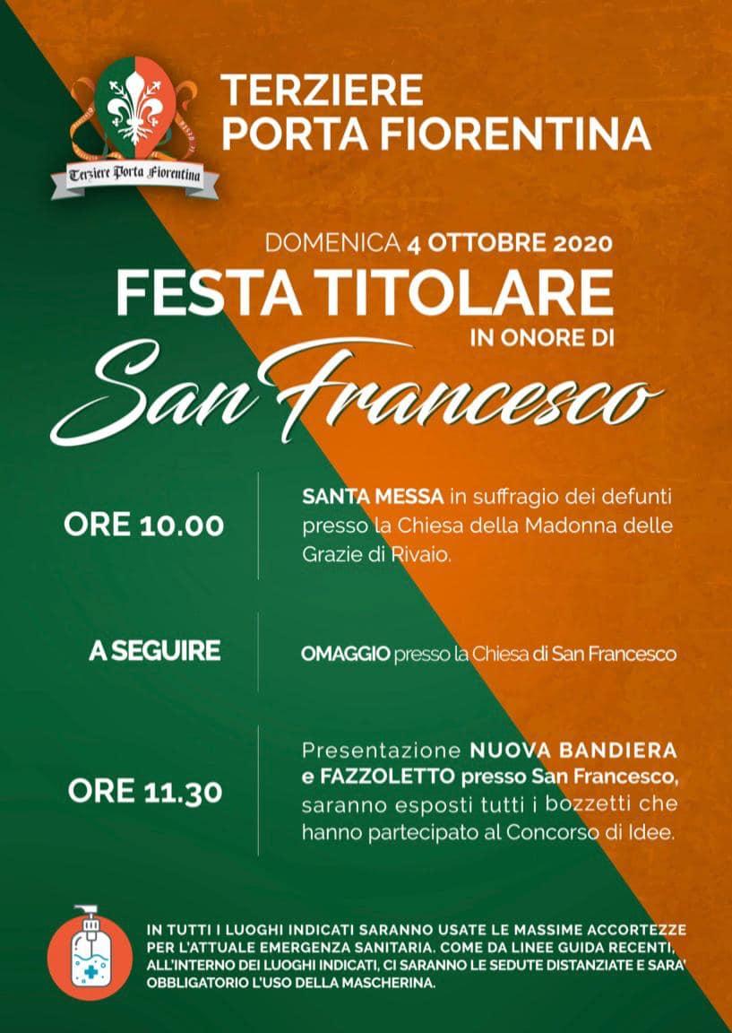 Palio Di Castiglion Fiorentino, Terziere Porta Fiorentina: 04/10 Festa Titolare in onore di SanFrancesco