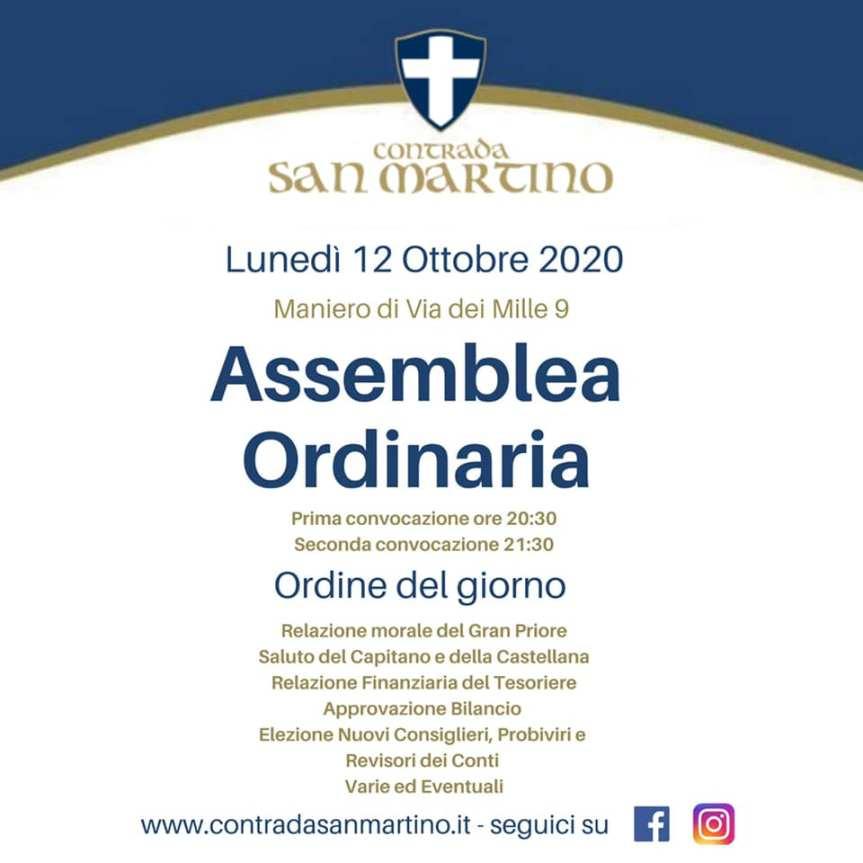 Palio di Legnano, Contrada San Martino: 12/10 AssembleaOrdinaria