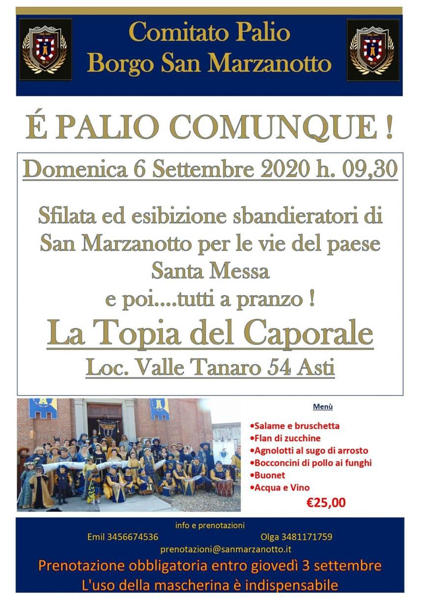Palio di Asti, Comitato Palio Borgo San Marzanotto: 06/09 E' PalioComunque!