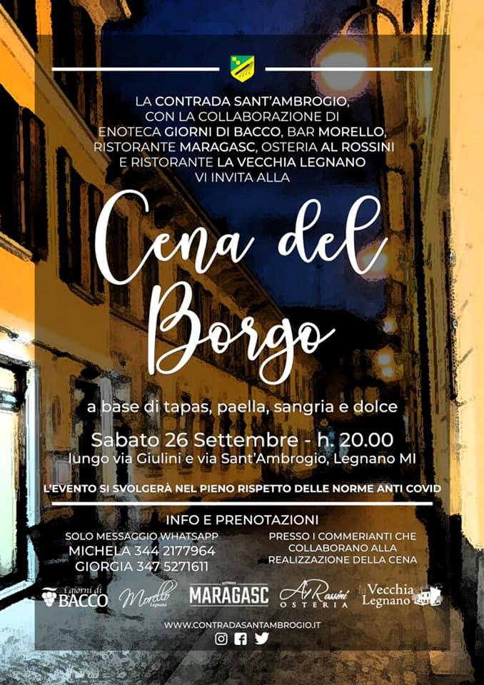 Palio di Legnano, Contrada Sant'Ambrogio: 26/09 Cena delBorgo