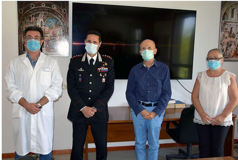 Siena: Il nuovo comandante provinciale dell'Arma dei Carabinieri, colonnello Nicola Ferrucci, in saluto alla direzione aziendale dell'AouSenese