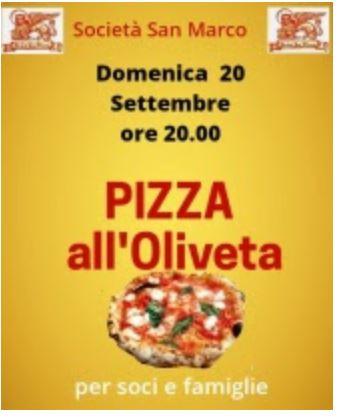 Siena, Società San Marco: 20/09 Pizza all'Oliveta