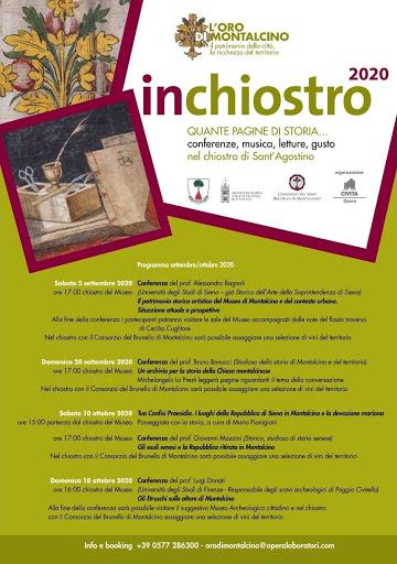 """Provincia di Siena, Montalcino: """"Inchiostro 2020"""", terzo appuntamento alla scoperta dei vini e della storia delterritorio"""