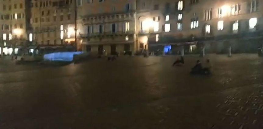 Siena: Ieri 06/11 prima notte dicoprifuoco