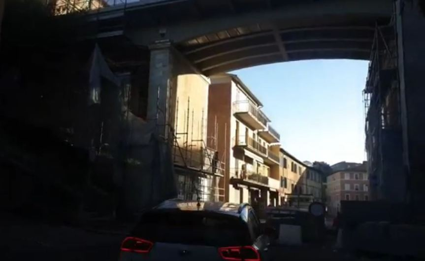 Siena: Oggi 27/10 in fase di smontaggio il cantiere del Ponte diRavacciano