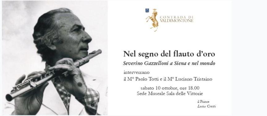 Siena: 10/10 La Contrada di Valdimontone rende omaggio a SeverinoGazzelloni
