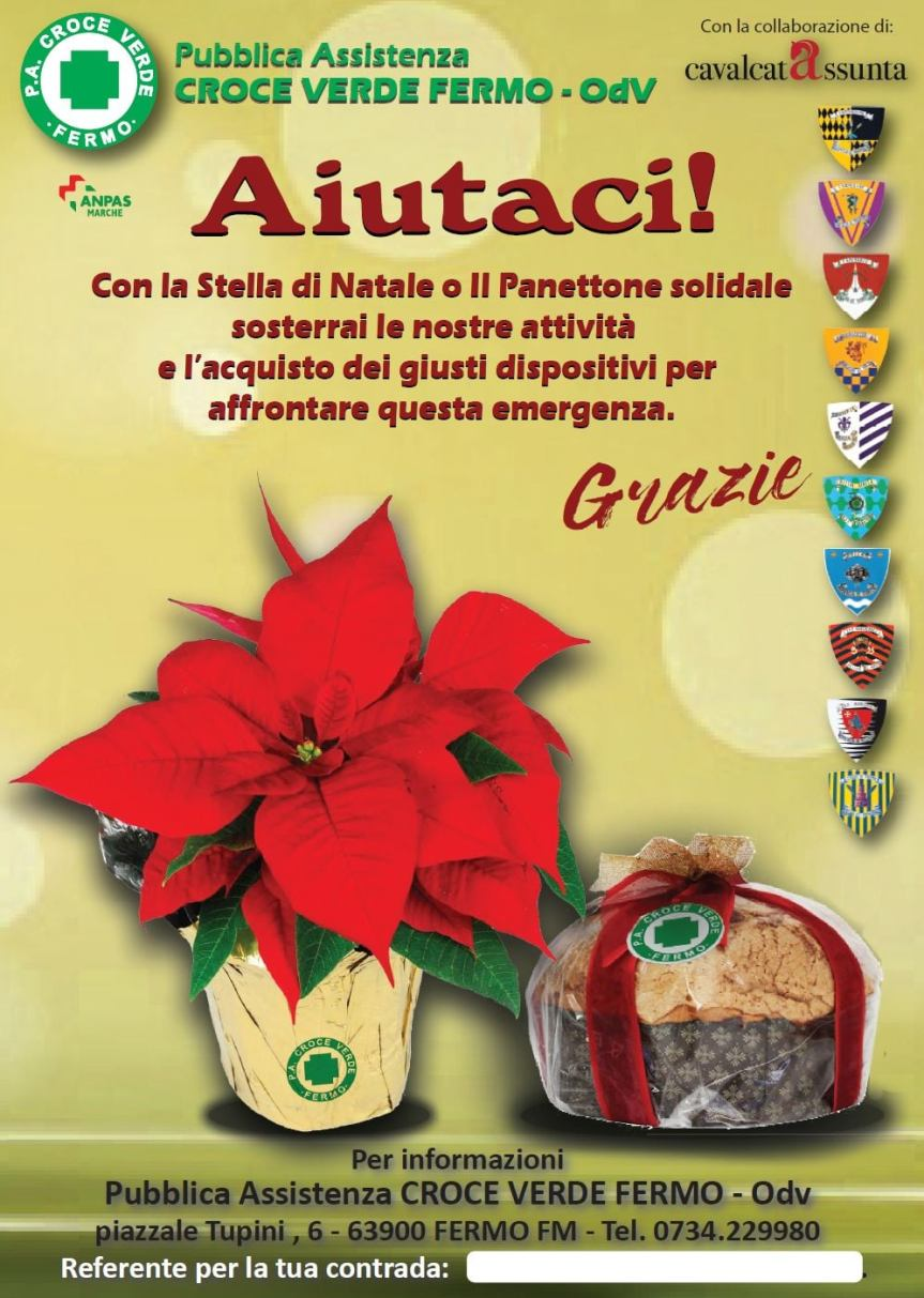 Cavalcata dell'Assunta Fermo: La Cavalcata per Natale al fianco della Pubblica Assistrenza Croce Verde-OdV diFermo