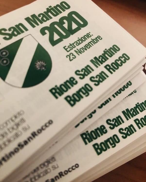 Palio di Asti, Comitato Palio Rione San Martino-San Rocco: Estratti i Biglietti della Lotteria2020