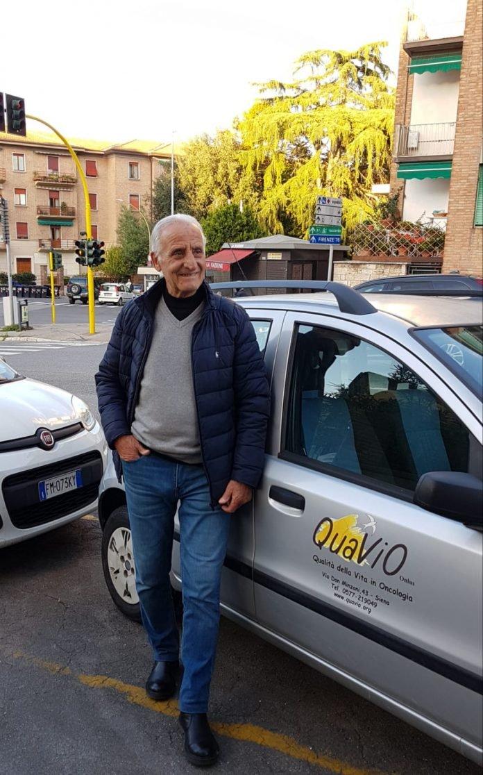 Siena: Mario il volontario con la Lupa nelcuore