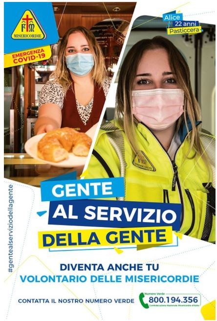 """Toscana: """"È l'ora di dare una mano"""", l'appello delle Misericordie Italiane per trovare nuovivolontari"""