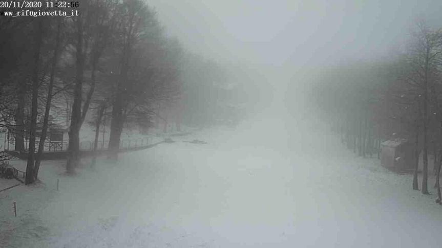 Toscana: Oggi 20/11 Bufera di neve sul monteAmiata