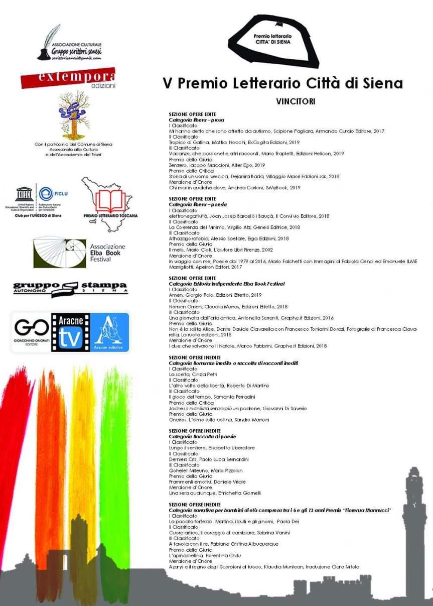 Siena, Premio Città di Siena: Ecco tutti i nomi deipremiati