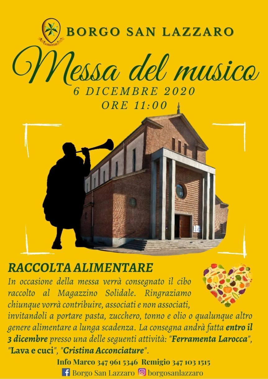 Palio di Asti, Comitato Palio Borgo San Lazzaro: 06/12 Messa del Musico e RaccoltaAlimentare