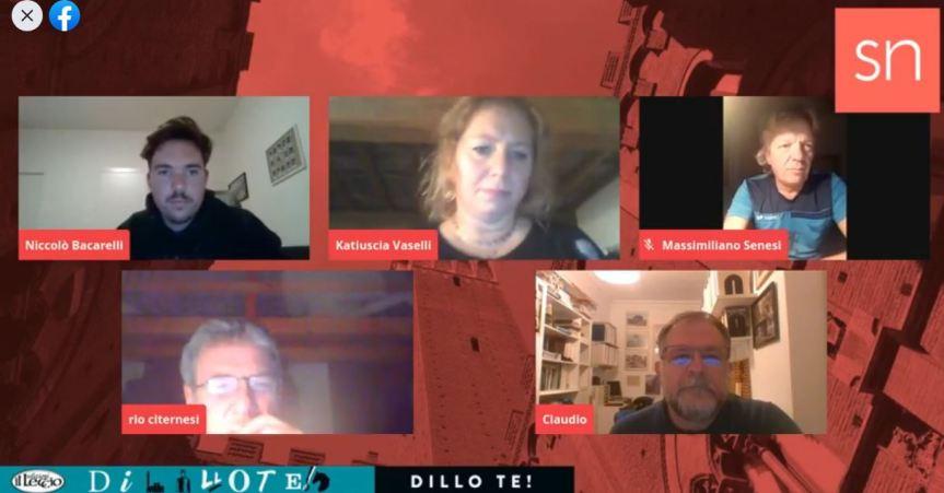 """Siena: Oggi 20/11 Diretta Live Siena News con Claudio Rossi, Rio Citernesi e massimiliano Senesi per parlare di """"DilloTe"""""""