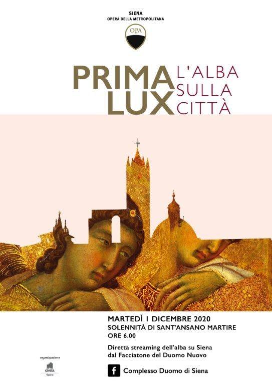 """Siena: DOmani 01/12 ore 06.00 Prima Lux l""""Alba sullaCIttà"""