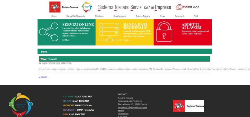 Siena: Dal 1° dicembre la nuova piattaforma regionale per lo Sportello unico delle attivitàproduttive