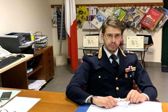 Siena: Polizia Stradale, il saluto del ComandanteCiaramella