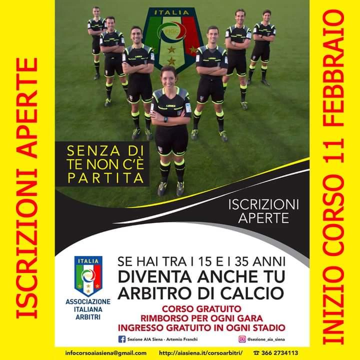 Siena, Sezione A.I.A.: Dall'11/02 nuovo corso perarbitro