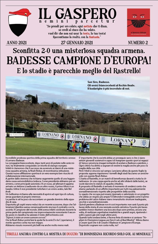"""Siena: Su """"Il Gaspero"""" si fa goliardia sulla sconfitta del Siena aBadesse"""