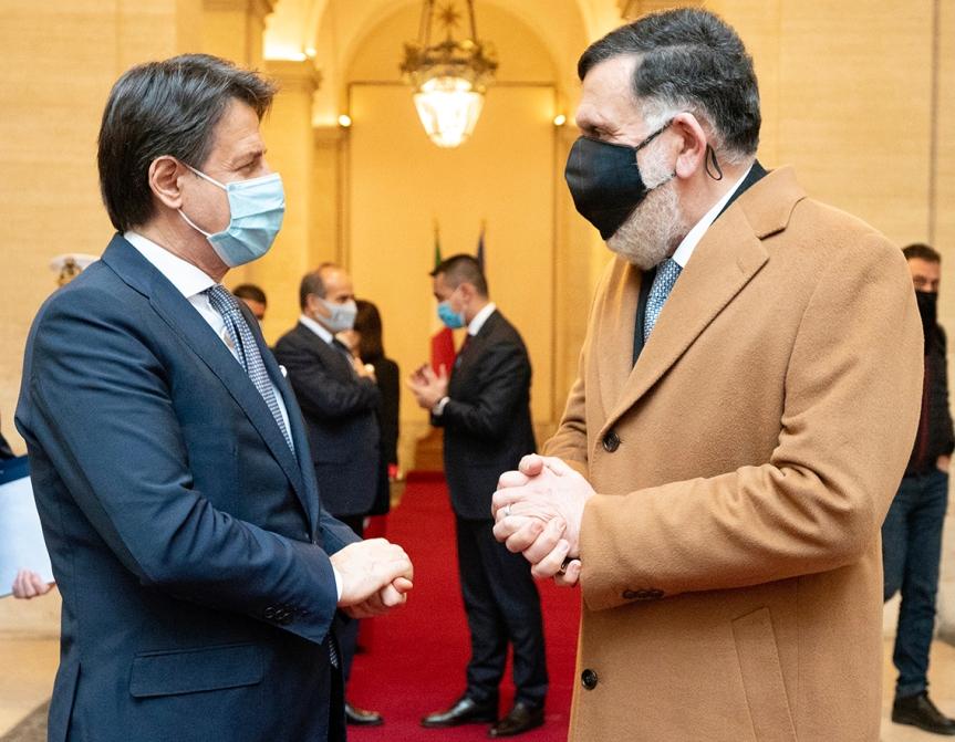 Italia: Conte incontraal-Serraj