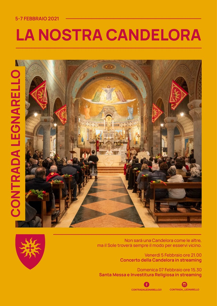 """Palio di Legnano, Contrada Legnarello: 05-07/02 """"La Nostra Candelora"""", 07/02 Investitura Regiliosa OnLine"""