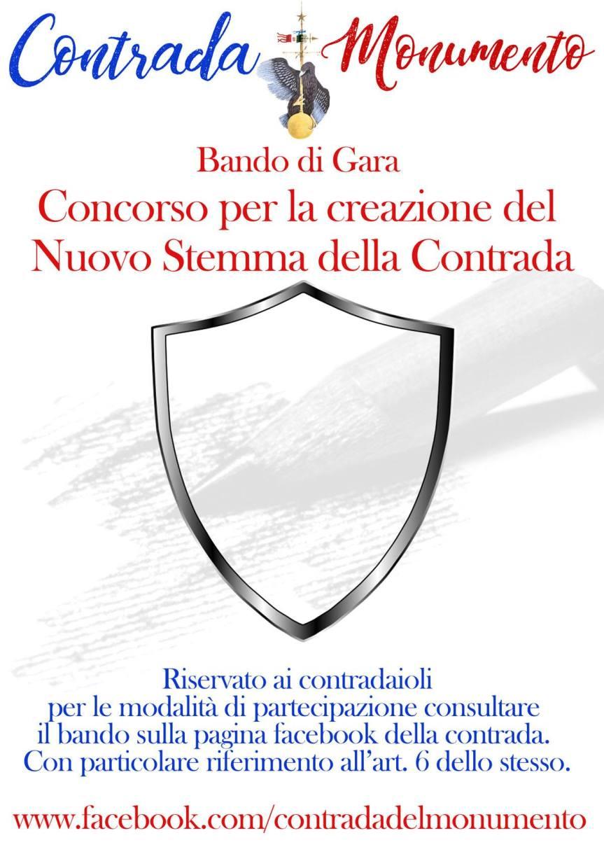 Palio di Castel del Piano, Contrada Monumento: Bando per la creazione del nuovo stemma dellaContrada