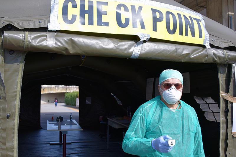 Siena: Sostituzione tenda check-point con prefabbricato all'ingressodell'ospedale