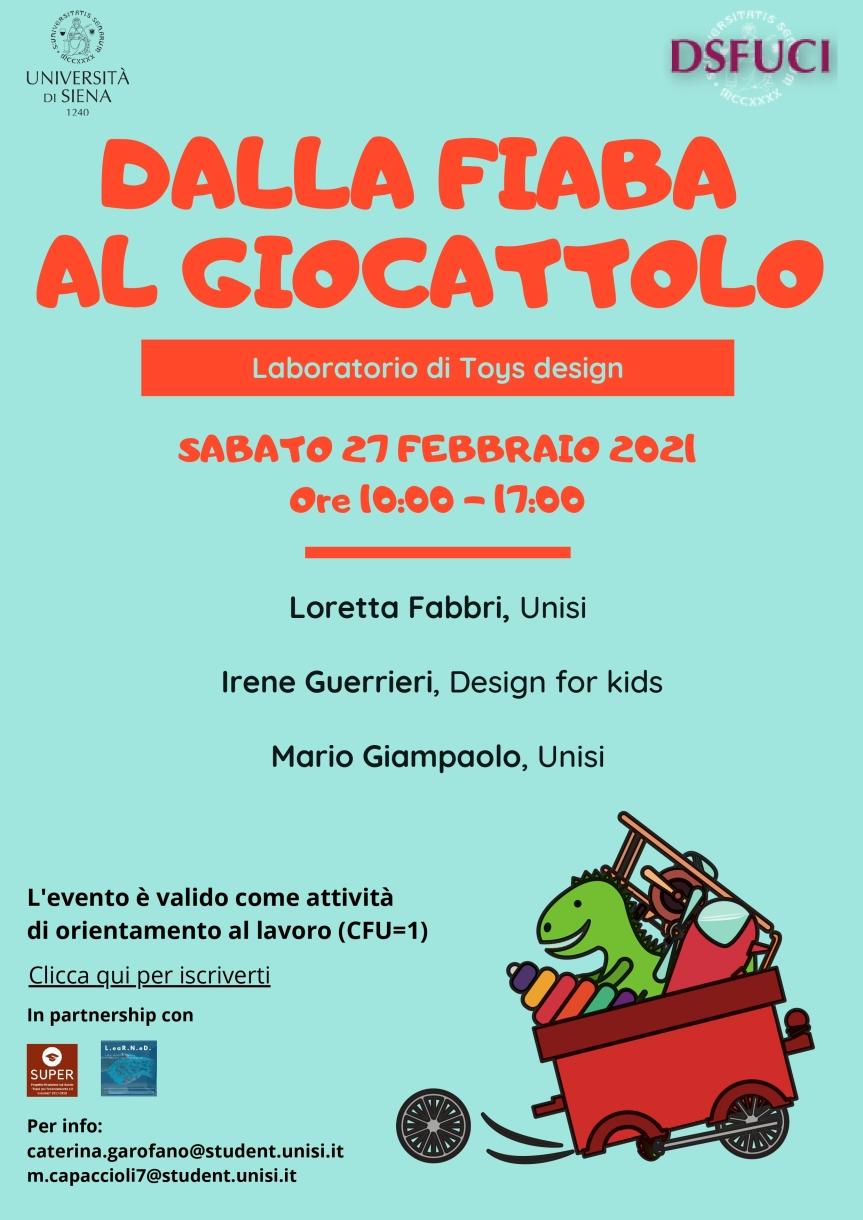 """Siena: Domani 27/02 """"Dalla  Fiaba al Giocattolo"""" workshop all'Università"""