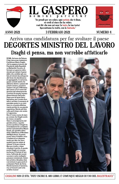 """Siena, Goliardi Senesi: Oggi 04/02 è disponibile la quarta uscita de """"IlGaspero"""""""