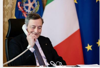 Italia: Conversazione telefonica del Presidente Draghi con il Primo Ministro libico AbdelhamidDabaiba