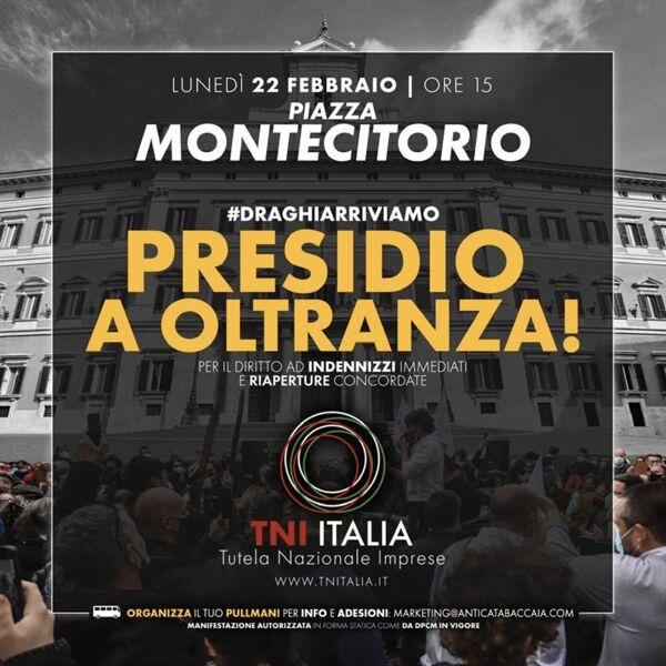 """Siena, Ristoratori, presidio a Montecitorio: """"Non ci muoveremo finché non saremoascoltati"""""""