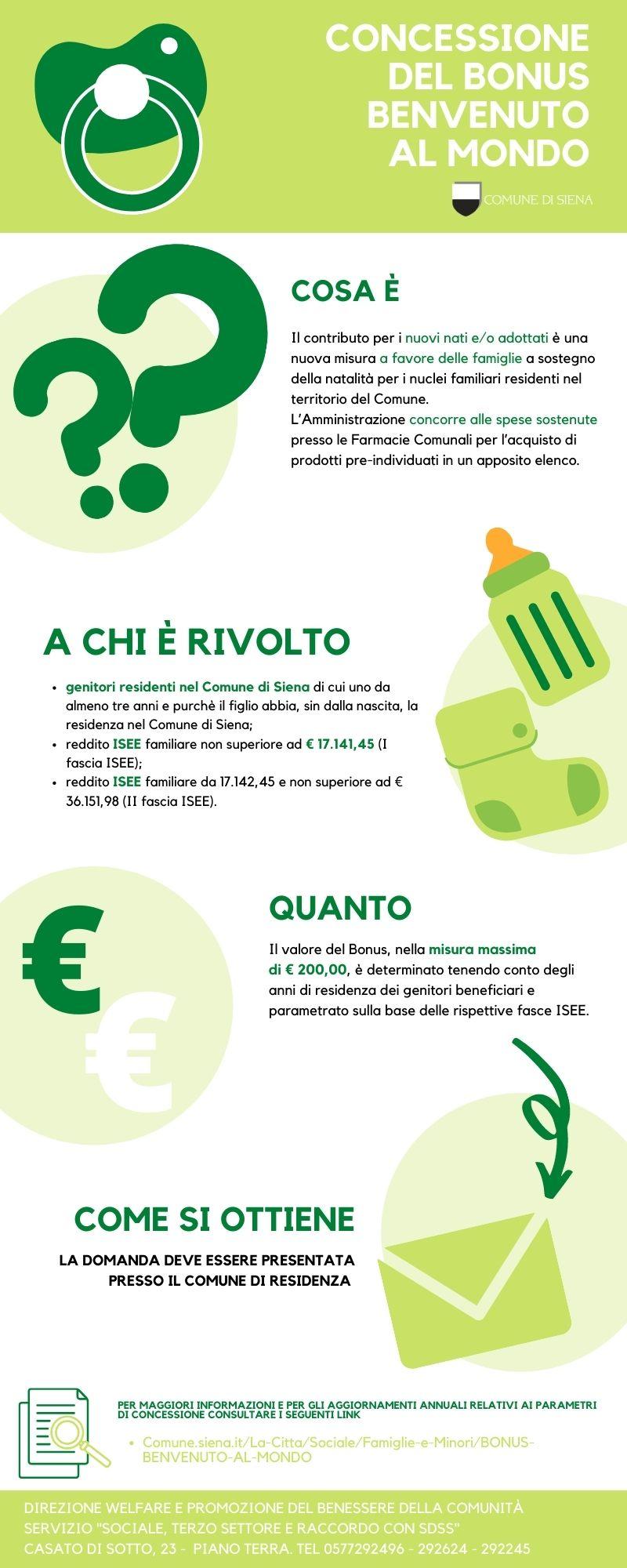"""Siena: """"Benvenuto al mondo"""", prosegue anche nel 2021 l'erogazione del Bonus per le famiglie indifficoltà"""