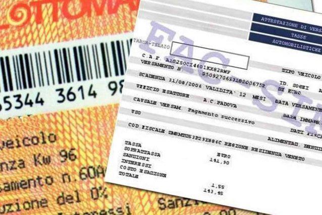 Italia: Cancellato bollo auto 2021! Partono le sospensioniregionali