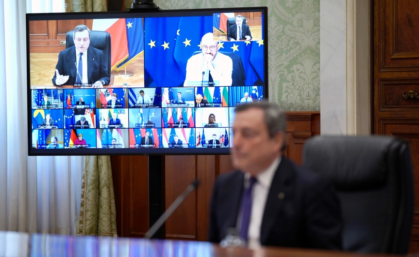 "Italia, Draghi: ""Cittadini europei delusi daAstraZeneca"""