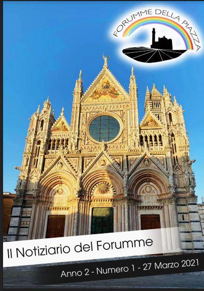 """Siena, Forumme della Piazza: E' uscito il primo Numero del """"Notiziario del Forumme""""2021"""