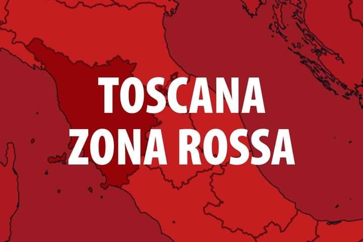 Toscana: Covid, Regione sempre più vicina alla riconferma della zonarossa
