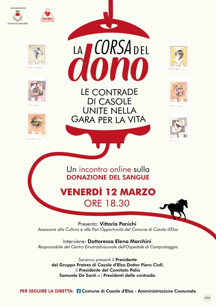 """Palio di Casole d'Elsa: Oggi 12/03 presentazione progetto """"la Corsa delDono"""""""