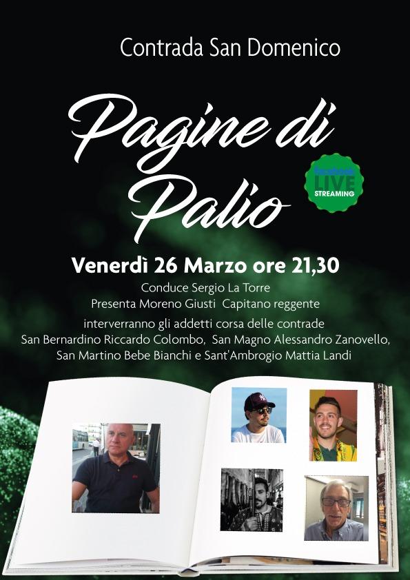"""palio di legnano, Contrada San Domenico: Oggi 26/03 appuntamento con """"Pagine diPalio"""""""