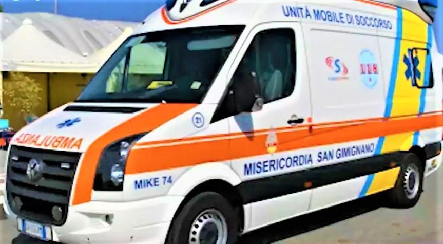 Provincia di Siena: San Gimignano, nuova ambulanza grazie a un'anonimabenefattrice