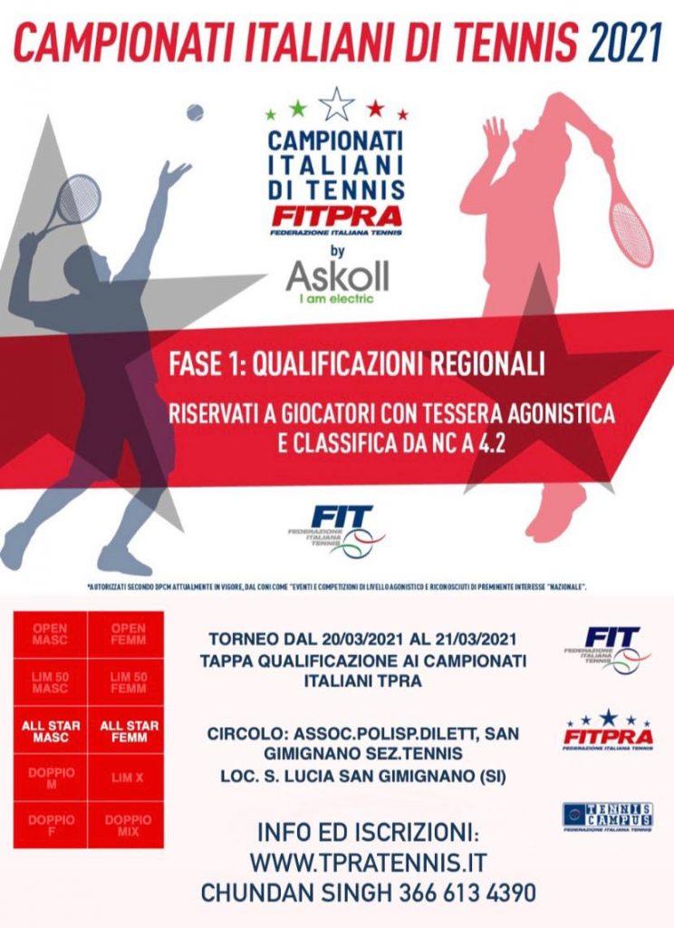 Provincia di Siena: ll tennis torna ad infiammare la terra rossa di SanGimignano