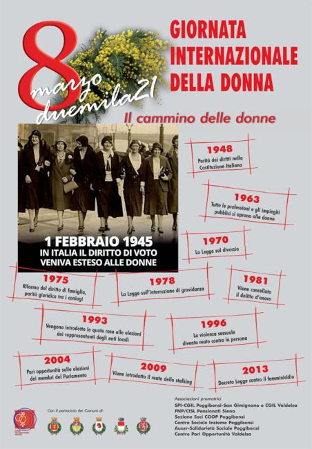 """Provincia di Siena: """"Il cammino delle donne"""", dalla Valdelsa un manifesto per l'8marzo"""