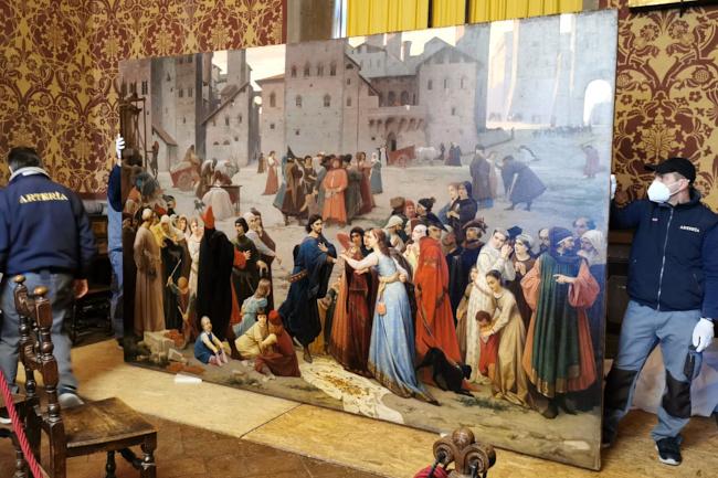 Siena: Il quadro su Provenzano Salvani di Amos Cassioli aForlì