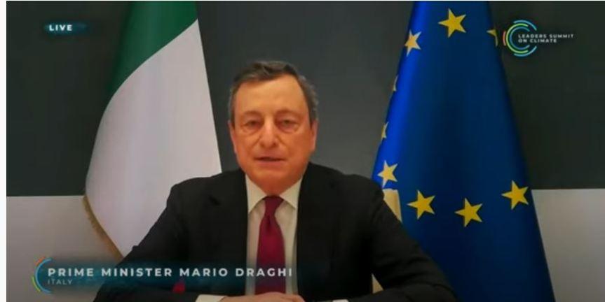 Italia: Il Presidente Draghi interviene al Leaders Summit onClimate