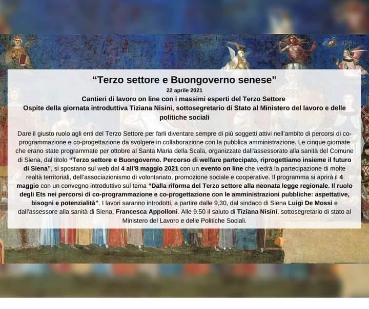 "Siena: 04-08/05 ""Terzo Settore e BuongovernoSenese"""