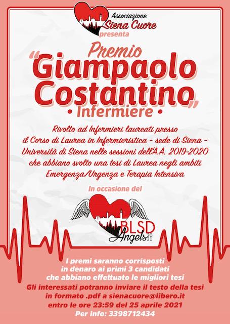 Siena: Siena Cuore promuove il premio dedicato a GiampaoloCostantino