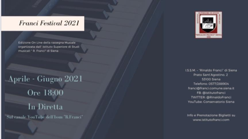 Siena:  Il pianista Andrea Trovato al Franci Festival2021