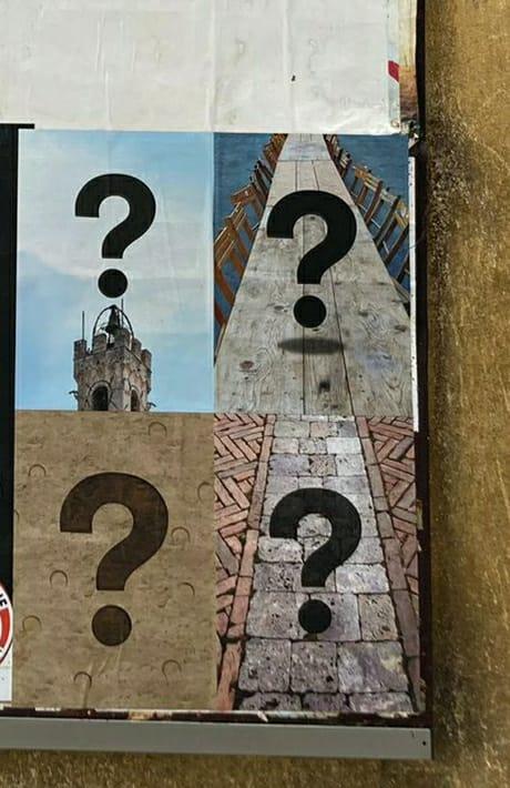 Siena, Punti interrogativi sparsi in città: Che cosasignificano?