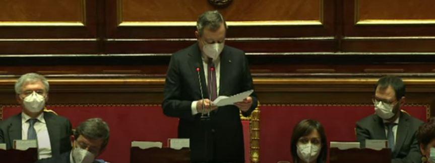 Italia: PNRR, Comunicazioni del Presidente Draghi alSenato