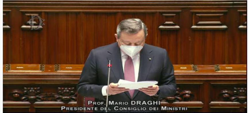 Italia: PNRR, replica del Presidente Draghi alla Camera deiDeputati