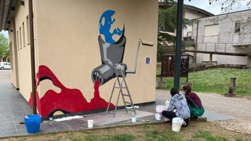 Provincia di Siena: Monteroni d'Arbia, al via i lavori per il murales degli studenti del LiceoArtistico